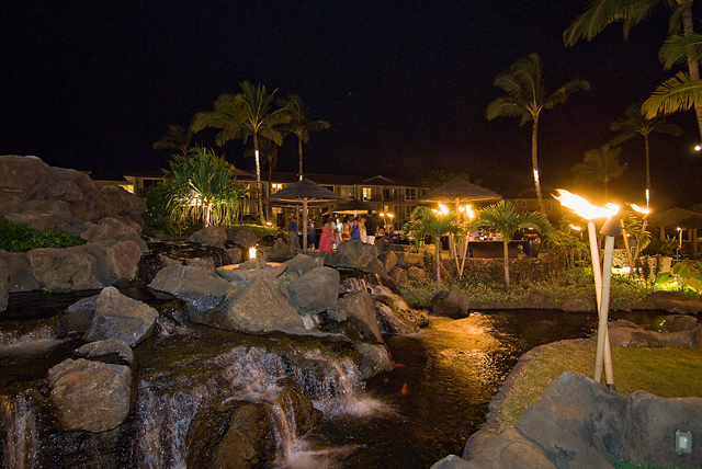Waterfall and Tiki reception