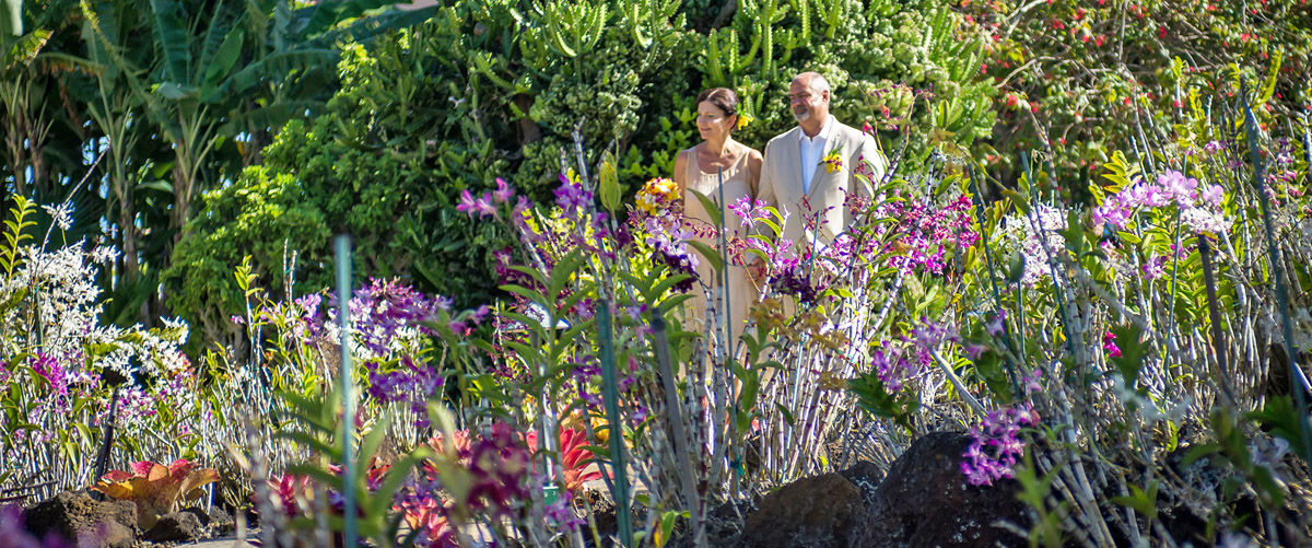 Garden Wedding In Kauai Hi Island Weddings Blessings